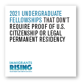 2021 Undergraduate Fellowships