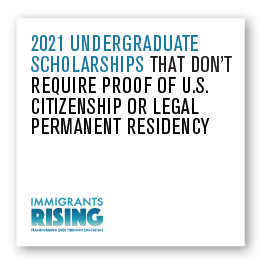 2021 Undergraduate Scholarships