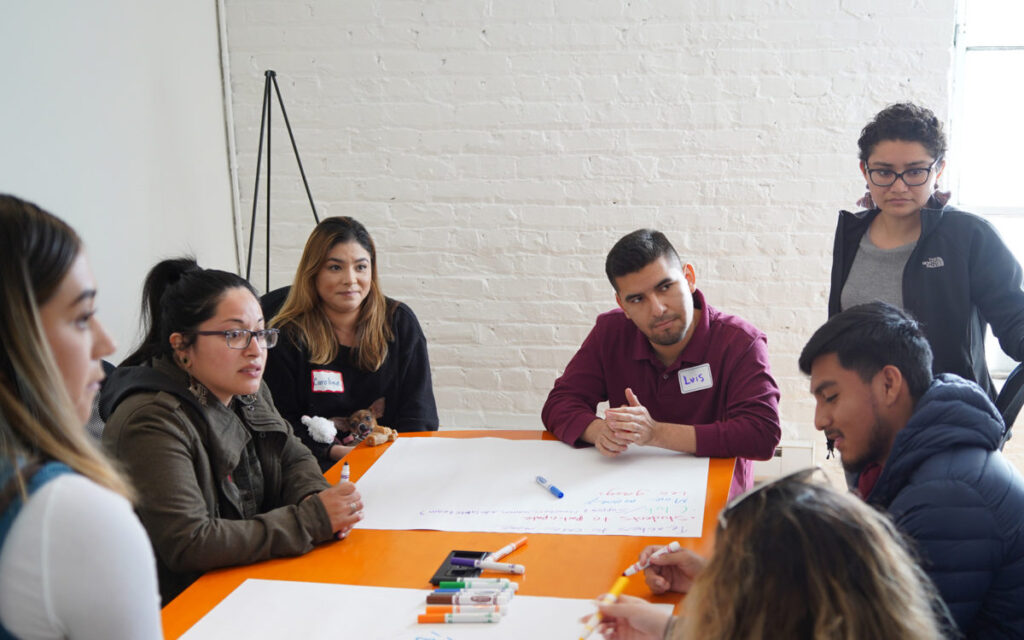 Student leaders and educators from California high schools discuss how to better support undocumented students at an event in 2019.