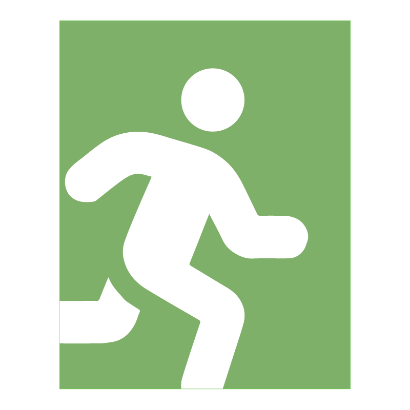 Icon: exit sign
