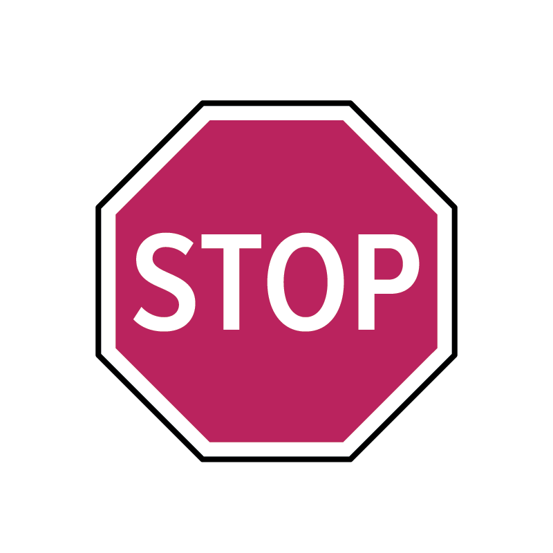 Icon: stop sign