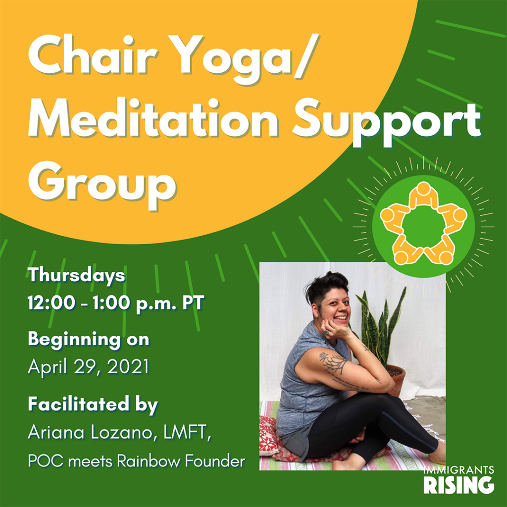 April 2021 Chair Yoga and Meditation Support Group