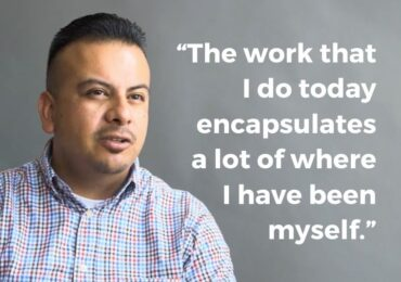 """""""The work that I do today encapsulates a lot of where I've been myself."""" -- Victor García, Ed.D, Director of California Campus Catalyst Fund"""